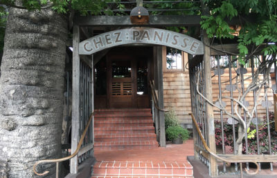 Entrance to Chez Panisse restaurant in Berkeley's Gourmet Ghetto