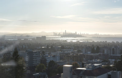Photo of the Bay Area from Berkeley, UC Berkeley campus