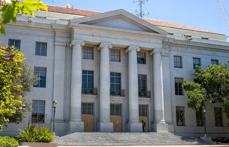 Photo of Sproul Hall on UC Berkeley campus