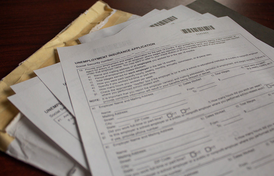 Photo of unemployment insurance applications