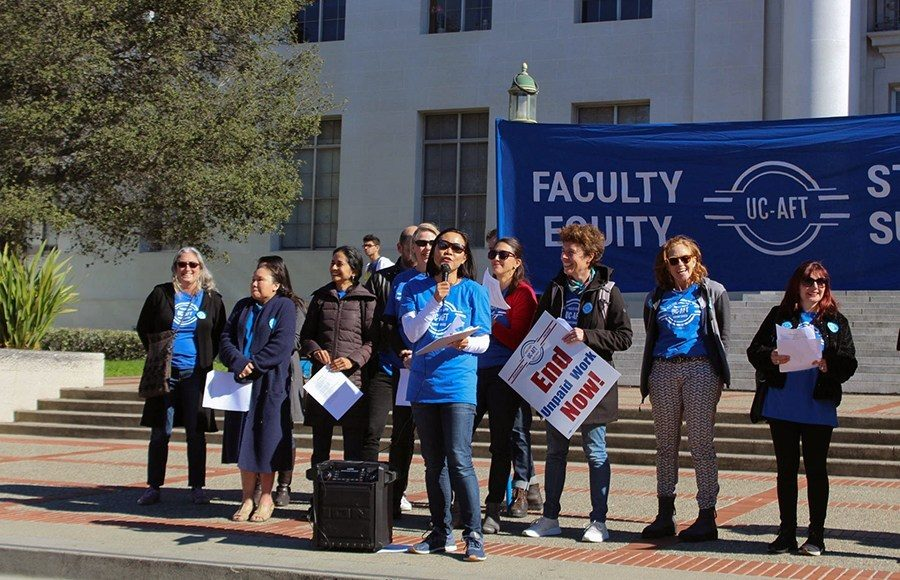 UC-AFT Protest
