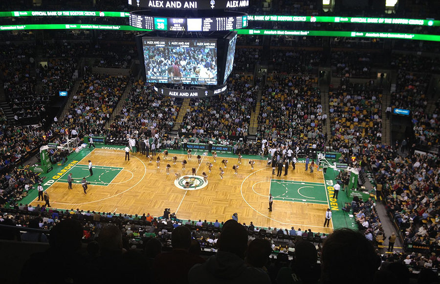 Photo of a Boston Celtics game
