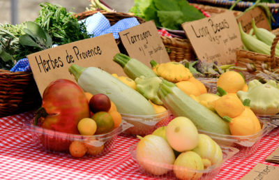 Photo of farmers market vegetables