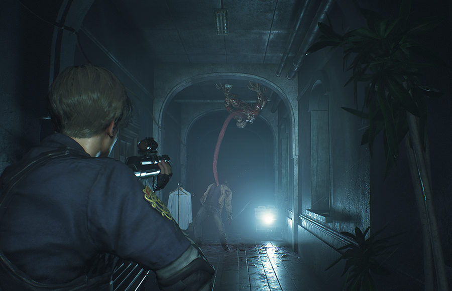 Photo of a horror video game