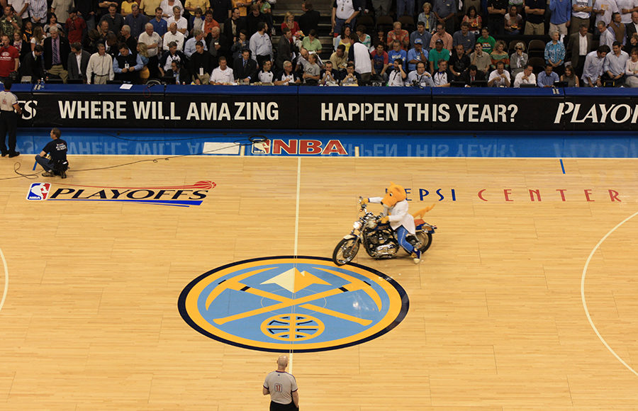 Photo of the Denver Nuggets basketball court