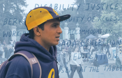 Photo illustration of UC Berkeley student Hari Srinivasan