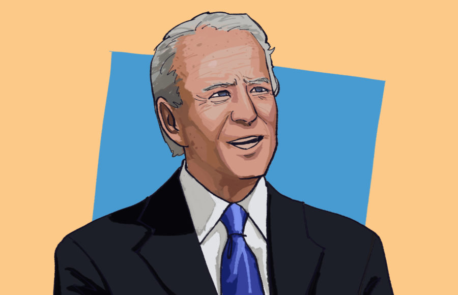 Illustration of presidential candidate and American politician Joe Biden.