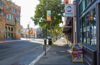 Photo of restaurants on Telegraph Ave.