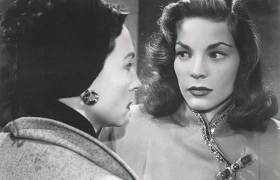 """Photo of Lauren Bacall and Agnes Moorehead in """"Dark Passage"""""""
