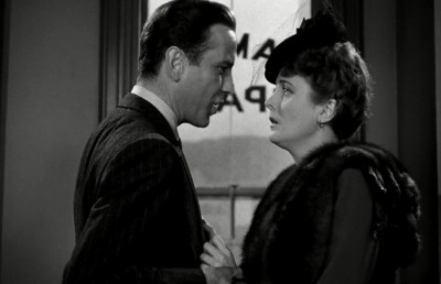 """Photo of Humphrey Bogart and Mary Astor in """"The Maltese Falcon"""""""