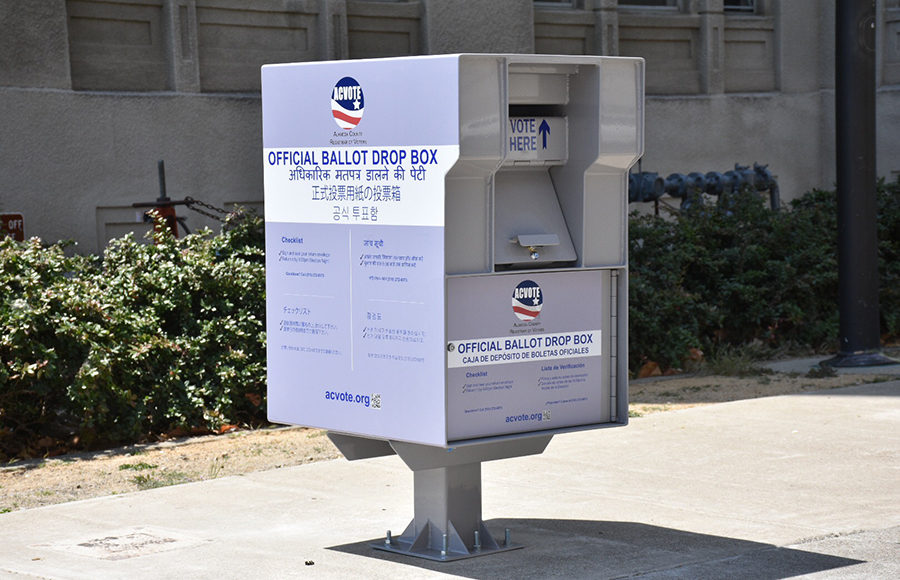 Photo of a ballot box