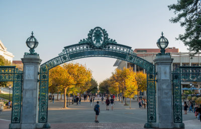 Photo of Sather Gate + Sproul Plaza