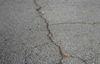 Photo of cracked concrete
