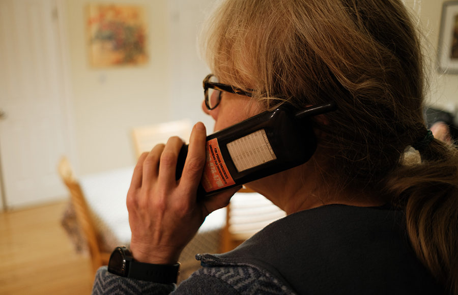 Photo of a woman on a phone