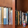 Photo of books on a bookshelf