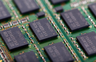 Photo of computer memory chips