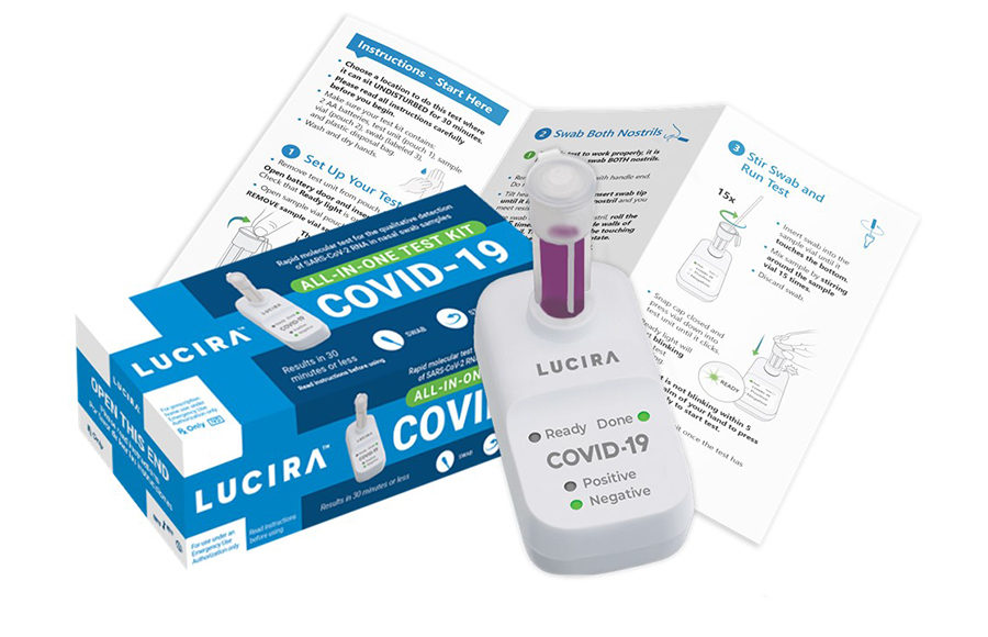 Photo of Lucira at-home COVID-19 test kit