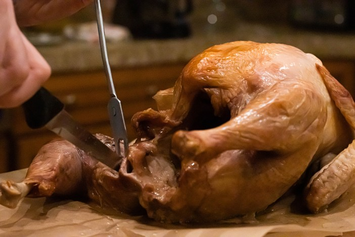 Photo of turkey carving