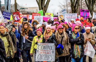 Photo of a women's march