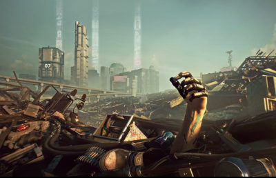 "Photo of the video game, ""Cyberpunk 2077"""