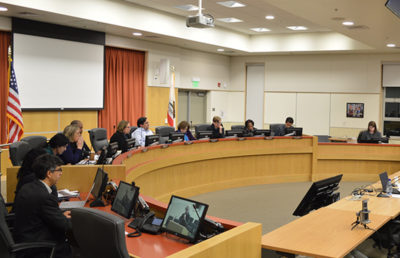 Photo of a city council meeting