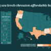 Infographic depicting affordable housing affected by sea level rise