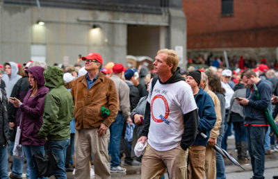 Photo of Rallygoers at a Donald J. Trump for President rally in Minneapolis, Minnesota.