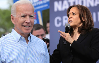 Photo of Joe Biden and Kamala Harris