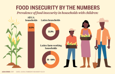 Infographic depicting food insecurity in households with children