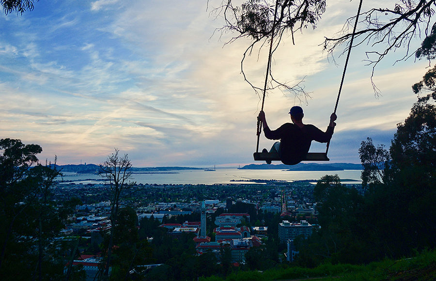 Photo of a person on the Big C swing