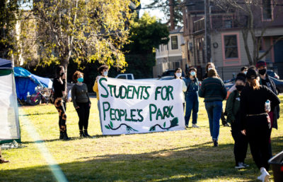 Photo of People's Park protests