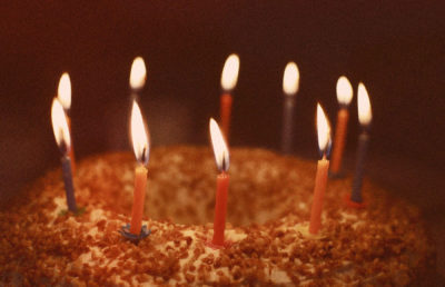 Photo of birthday candles