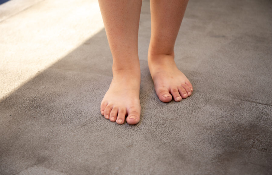 Image of barefoot person
