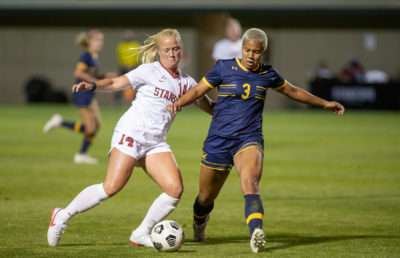 Image of soccer game, Cal Women's Soccer vs. Stanford