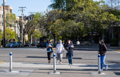 Photo of people walking around Berkeley