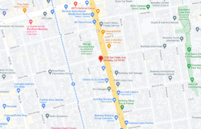 Google screenshot with a marker on 2200 San Pablo Ave
