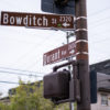 Photo of Bowditch St. and Durant Ave. street signs