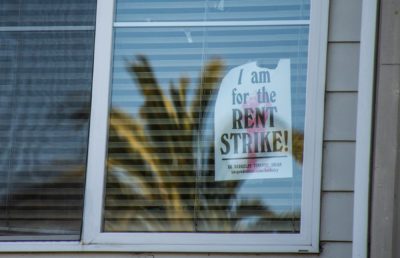 Image of rent strike poster