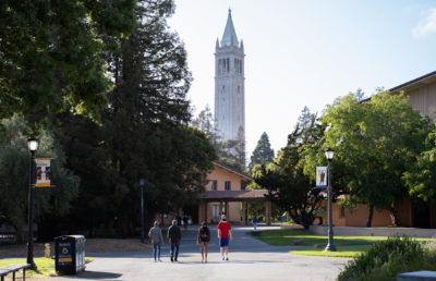 Photo of people walking on UC Berkeley campus