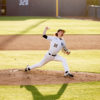 Photo of Sam Stoutenborough of Cal Baseball pitching