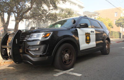 photo of a Berkeley police department SUV