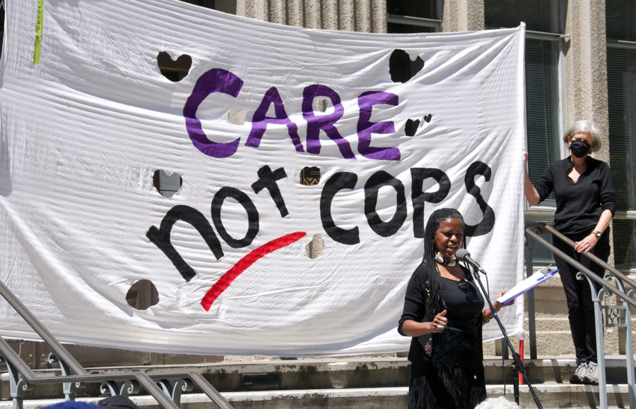 Photo of copwatch protest