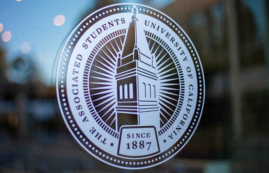 photo of ASUC logo on window