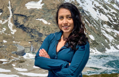photo of Areidy Beltran with mountains in the background