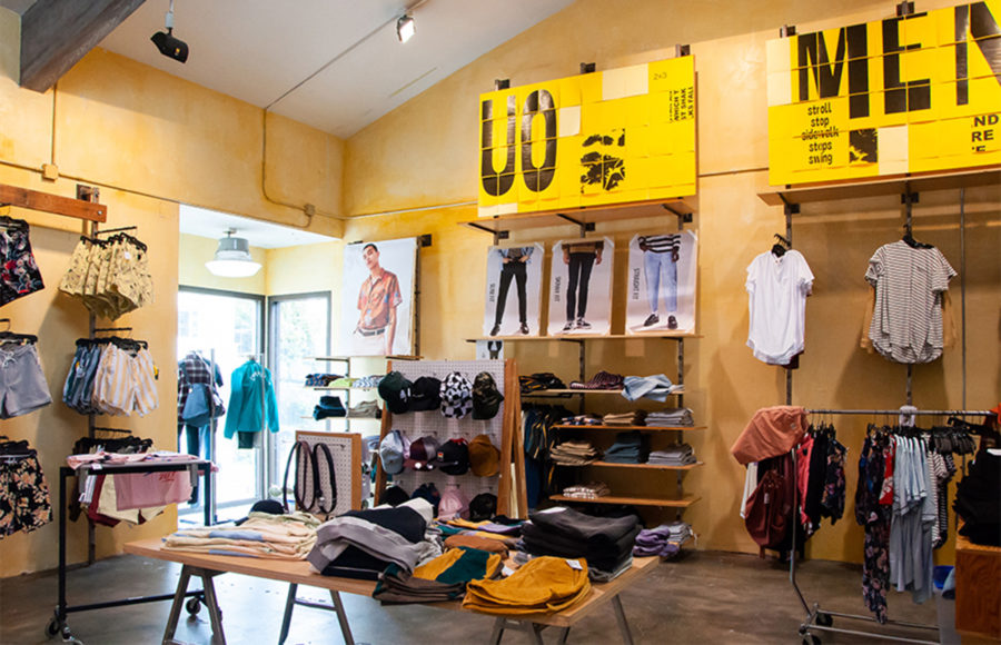 photo of the inside of an urban outfitters