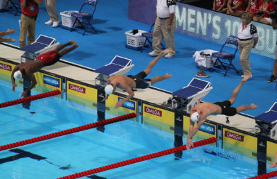 Photo of Olympic swimming trials
