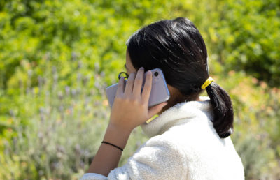 Photo of woman on phone