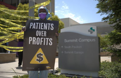 photo from worker and patient safety rally