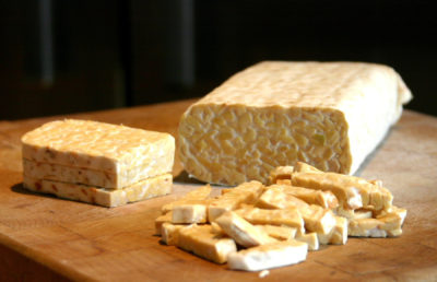photo of sliced tempeh
