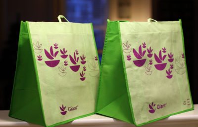 photo of reusable grocery bags
